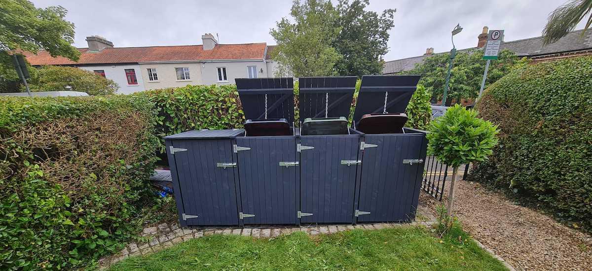 Garden Wheelie Bin Storage